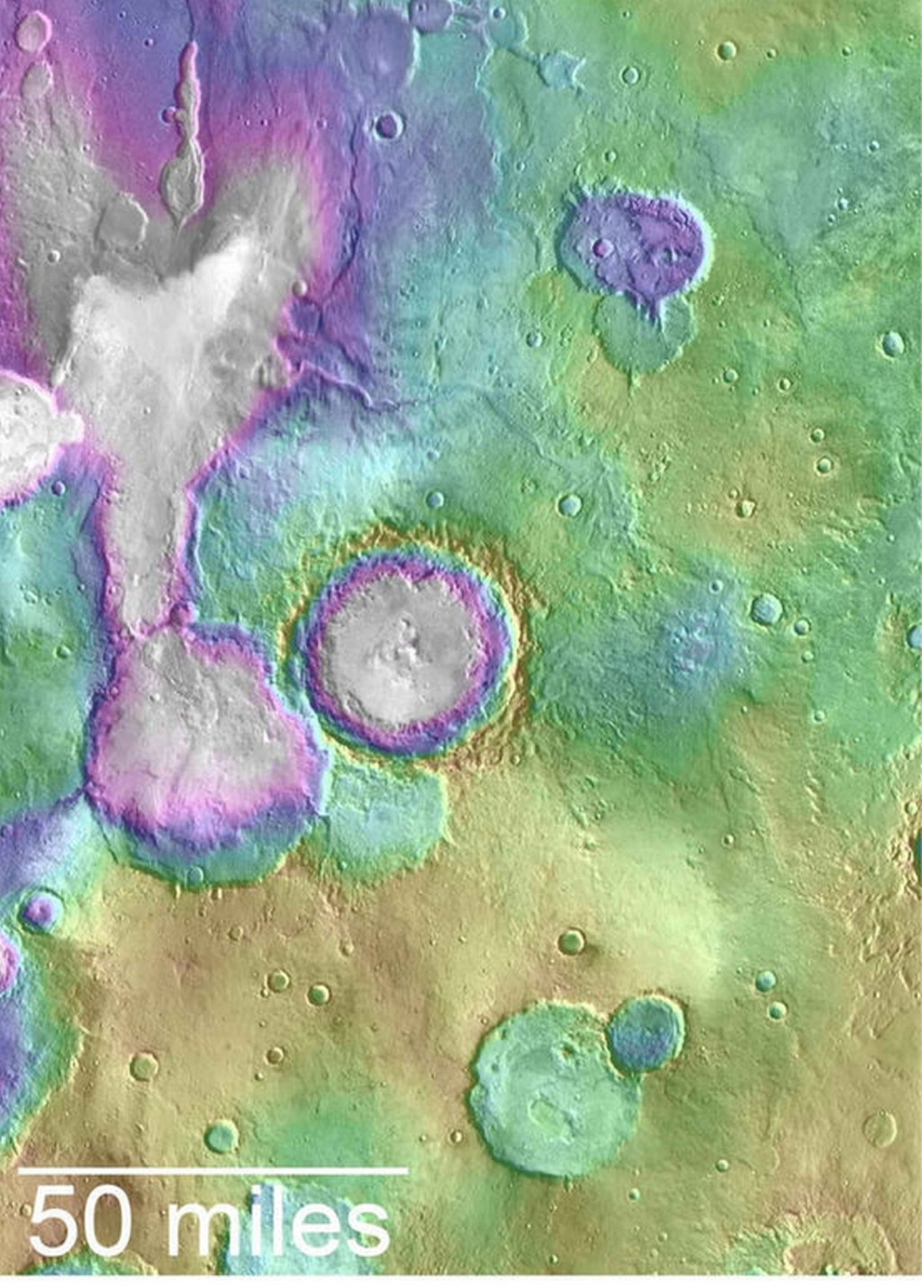 mars valleys age