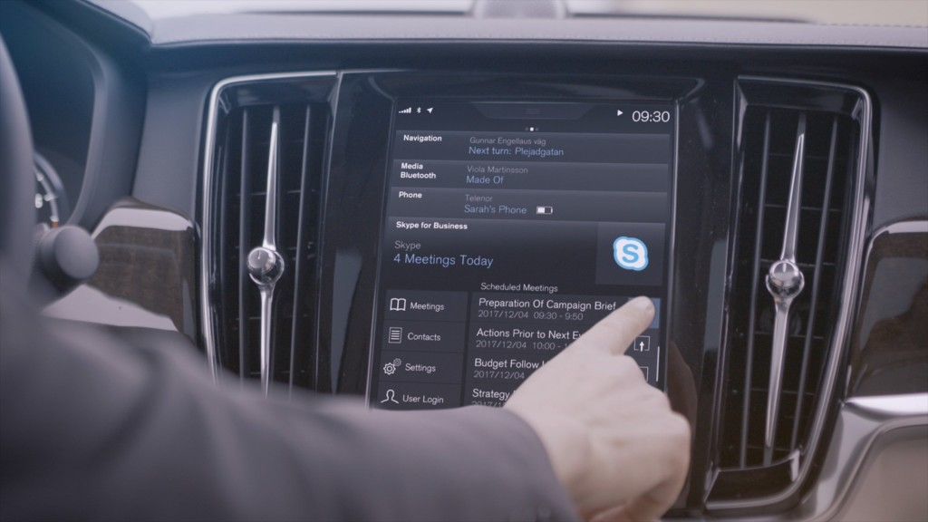 201913 Join Skype for Business meeting in a Volvo car