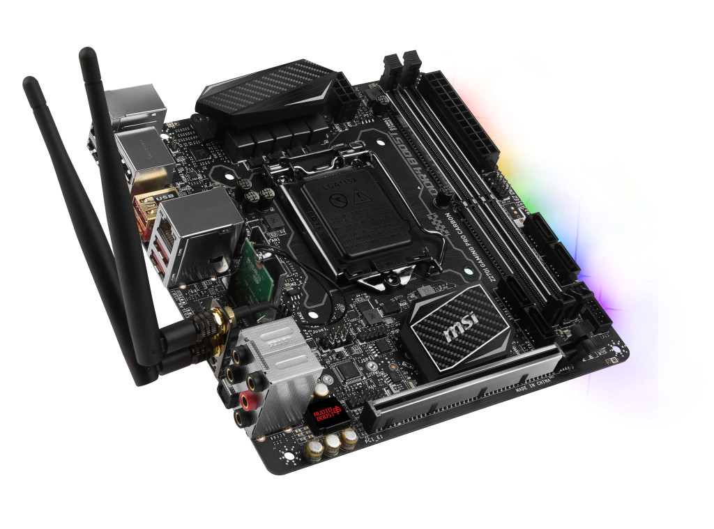 msi z270i gaming pro carbon ac  product picture 3d wifi