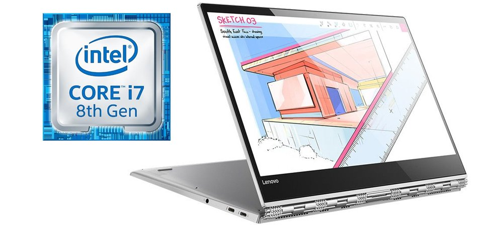1 yoga 920 vibes 2 in 1 gorilla glass laptop intel core i7 8550u platinum