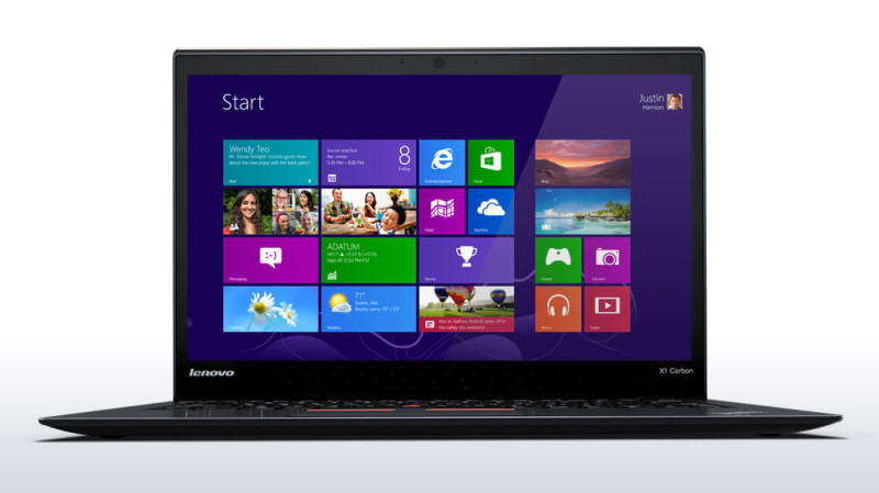 lenovo laptop thinkpad x1 carbon 3 front 1