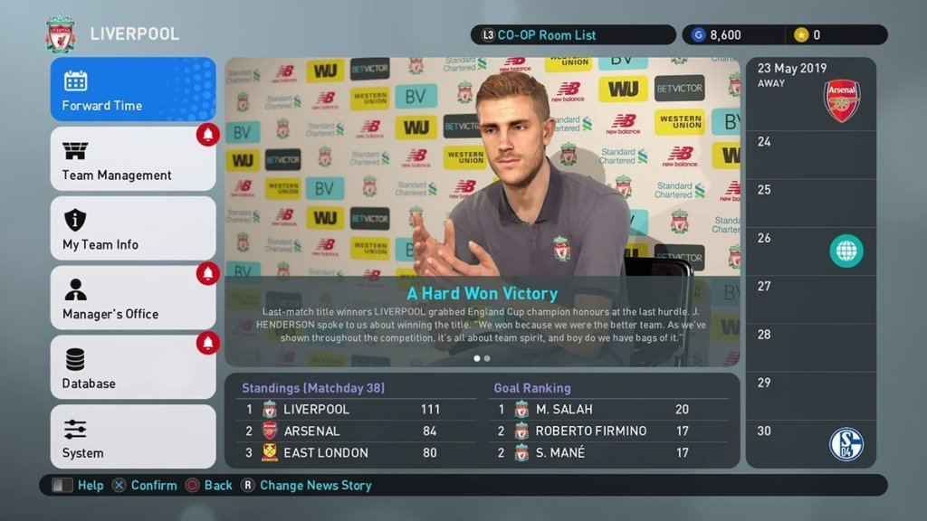 Pro evolution soccer 2019 amster league