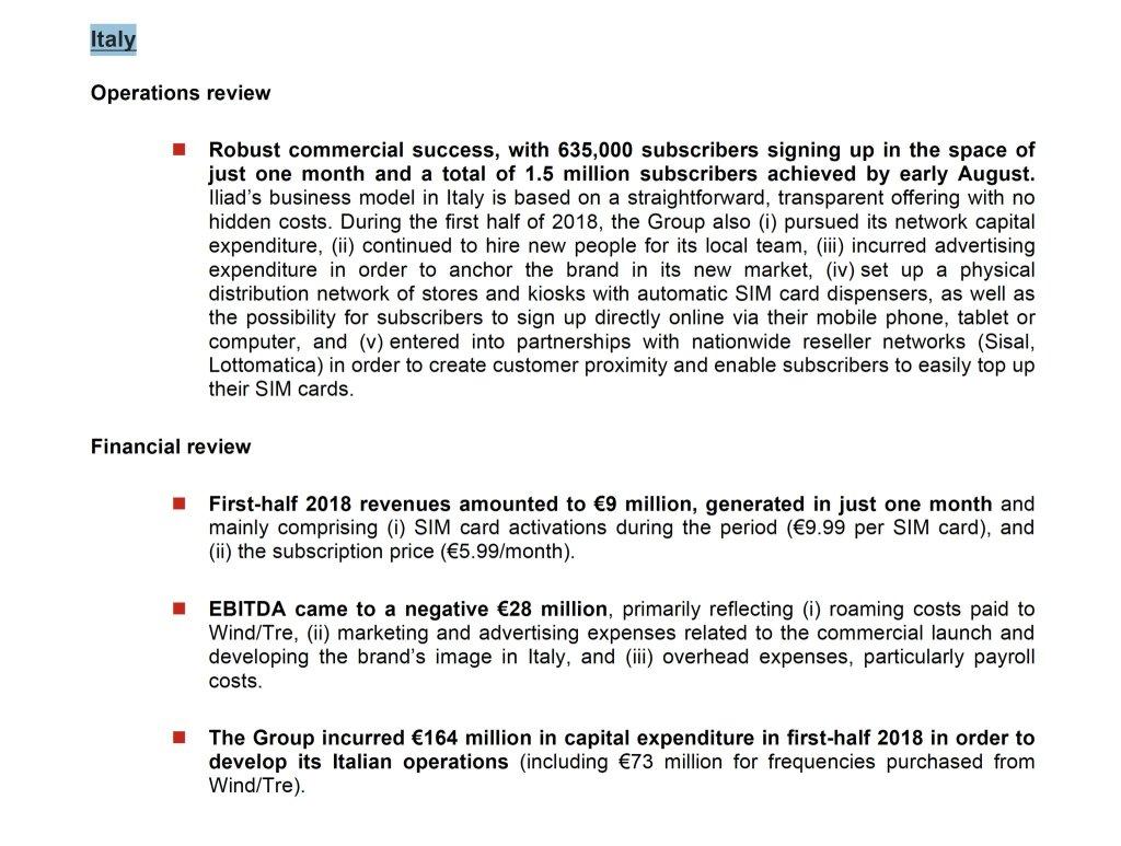 Iliad presenta una nuova offerta, 50 GB a 7,99 Euro al mese