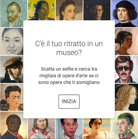 Google Art Selfie arriva in Italia