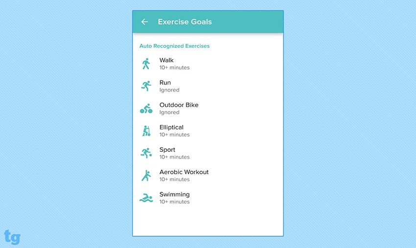 Fitbit Flex 2 SmartTrack Exercises