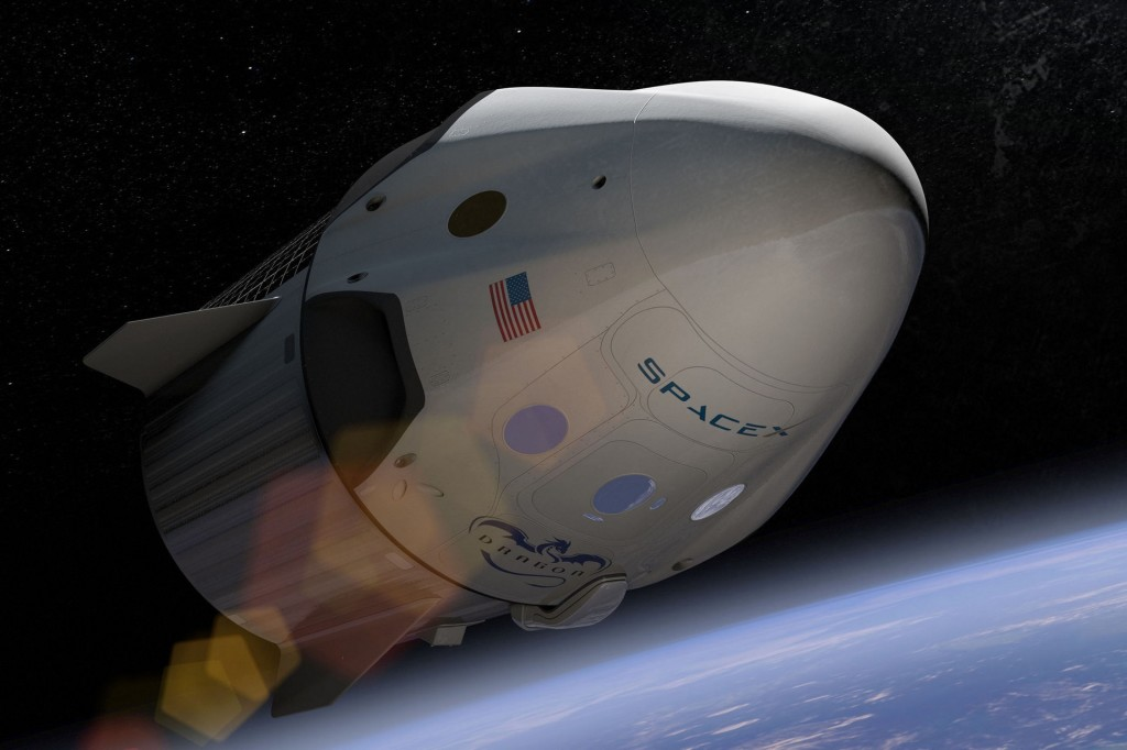 spacex falcon dragon crew capsule art