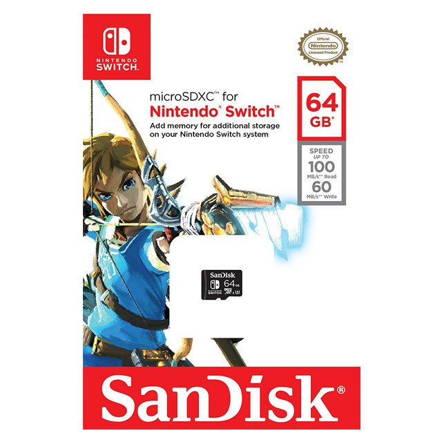 SanDisk MicroSDXC Nintendo Switch 64GB