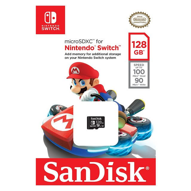 SanDisk MicroSDXC Nintendo Switch 128GB