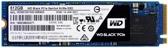 SSD WD Black da 512 GB