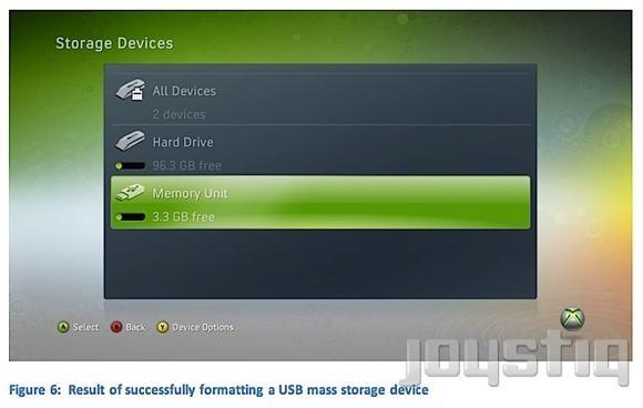 Xbox 360, chiavette USB come veri hard disk