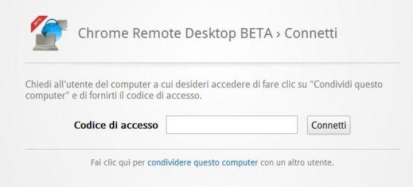 chrome remote desktop beta 01 t Come accedere e controllare il computer in remoto con Google Chrome