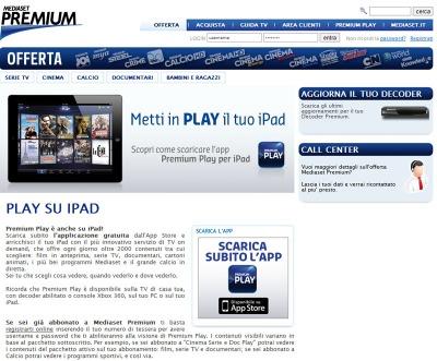 Mediaset premium play per ipad come una tv on demand tom for Premium on demand