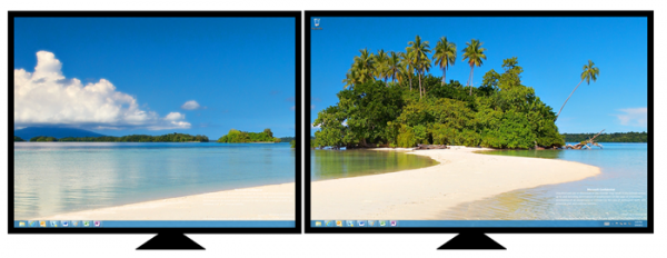 split wallpaper dual monitors windows 7