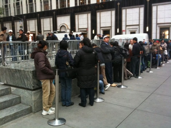 iphone line nyc t