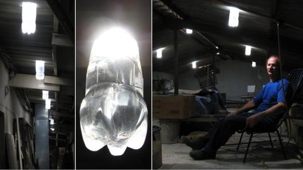 Solar bottle bulb bottiglie di plastica per illuminare casa