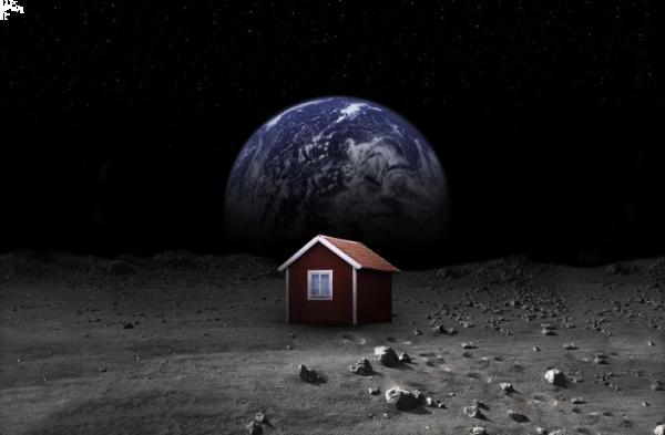 Nel 2015 la prima casa sulla luna contribuite per il for Avere una casa costruita sulla terra