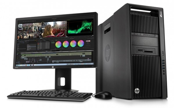 HP Z80 Workstation con un monitor di 27 pollici