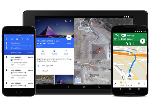 Google Maps con material design