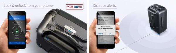 Trolley di BlueSmart - Apertura e controllo della distanza