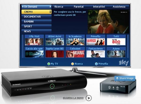 Sky on demand - decoder My Sky HD - Sky Link