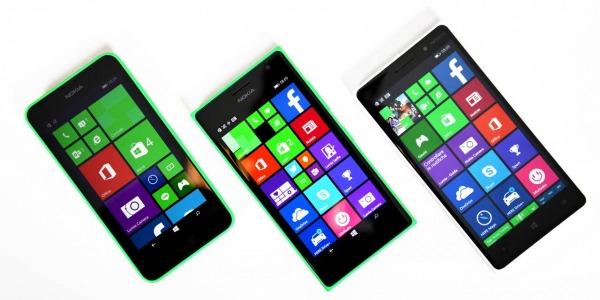 Confronto Nokia Lumia 630/735/830