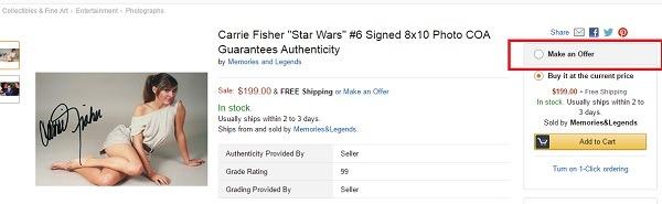 """servizio """"make an order"""" di Amazon"""