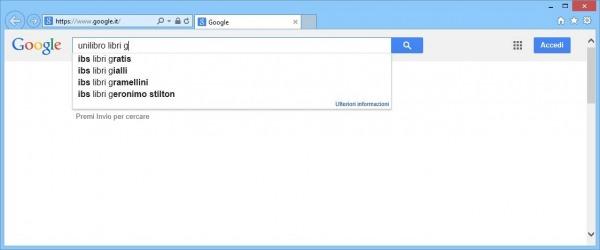 google suggest unilibro