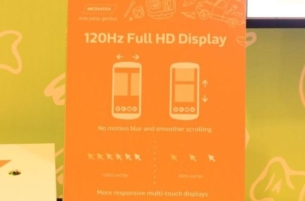 MediaTek display 120 Hz