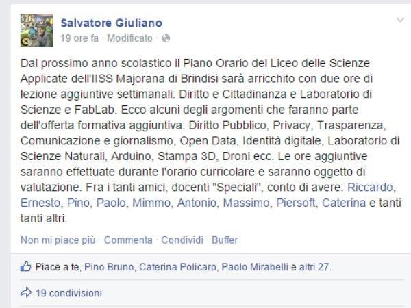 Salvatore Giuliano Facebook fablab