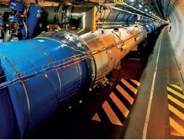 Un tratto del tunnel LHC del Cern a Ginevra