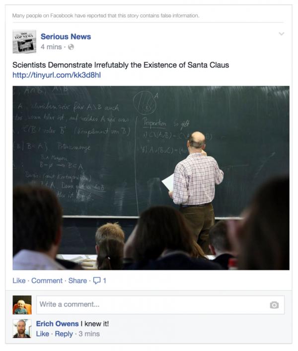 post facebook bufala