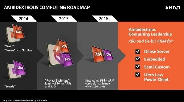 AMD Ambidextrous Computing Roadmap