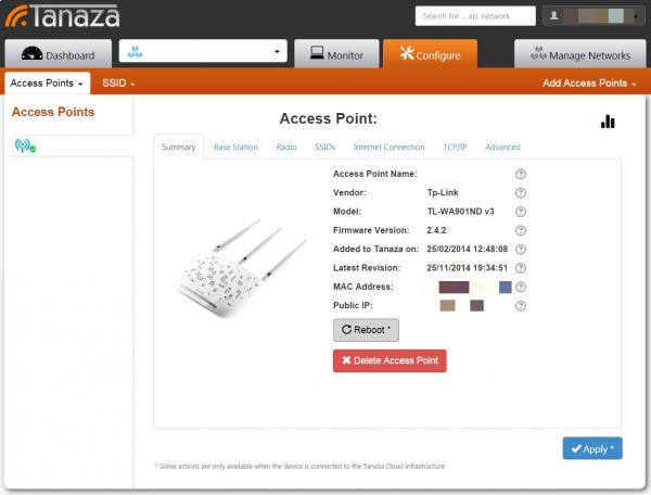 Tanaza Wi-fi dashboard 01