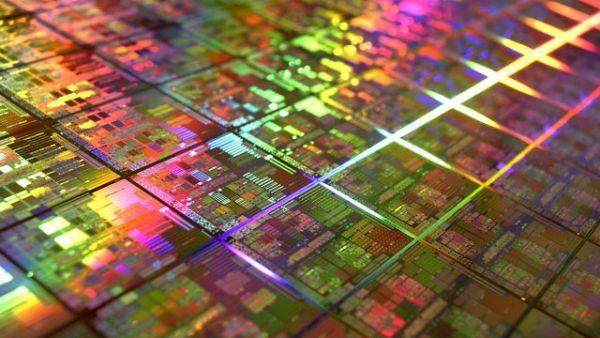 AMD CPU wafer
