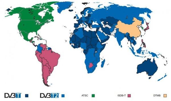 Digitale terrestre nel mondo