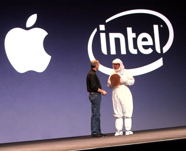 Apple Intel CPU wafer