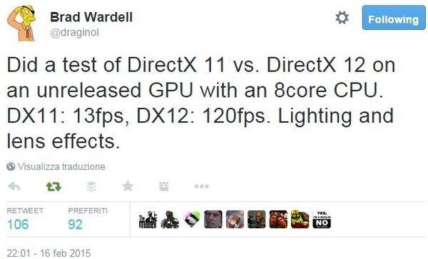 Directx 11 vs. DirectX 12 tweet Brad Wardell