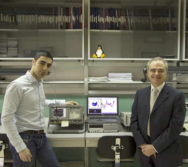 Da destra: il professore Marco Luise e Carmine Vitiello