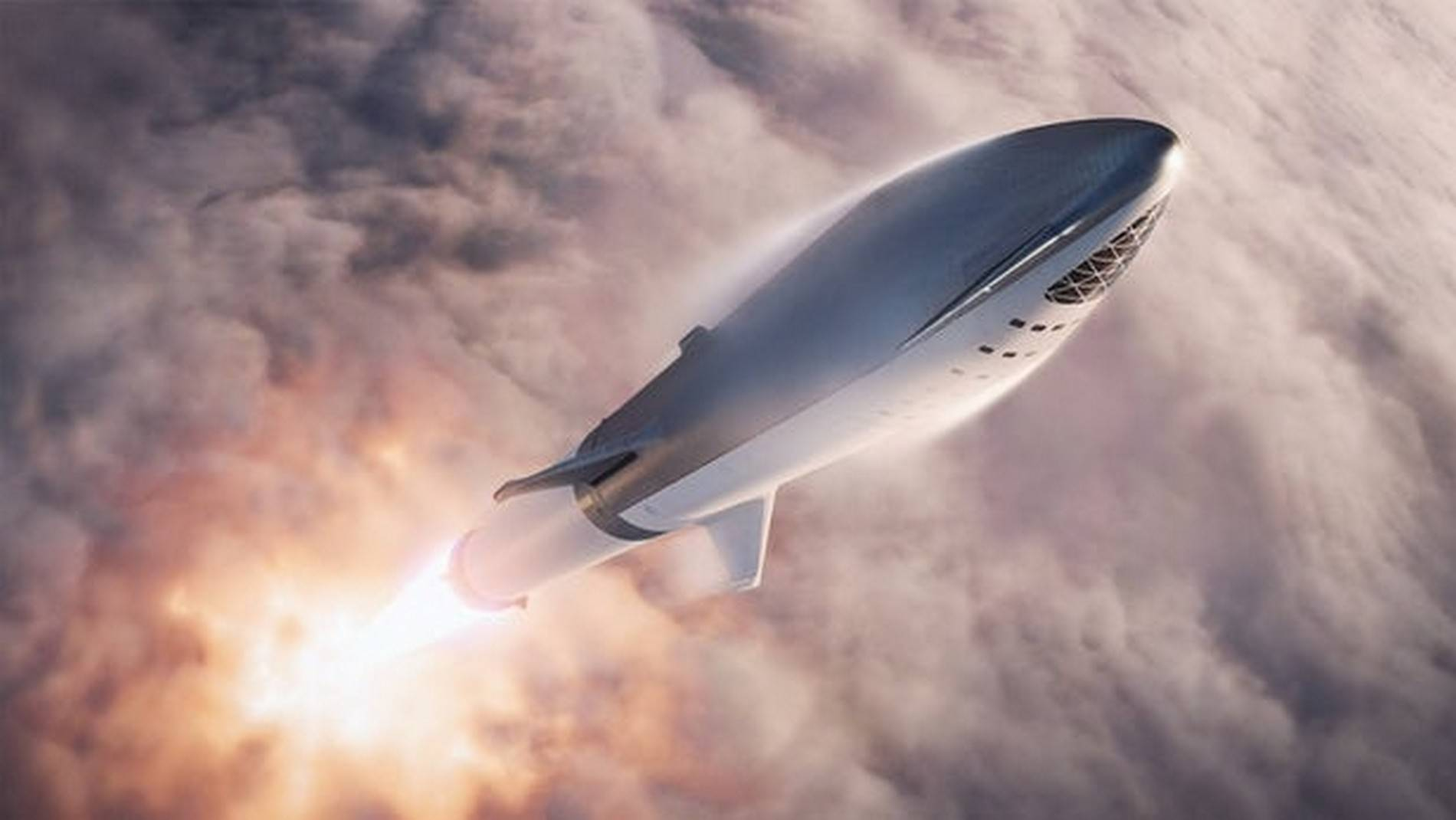 SpaceX BFR Lunar Mission