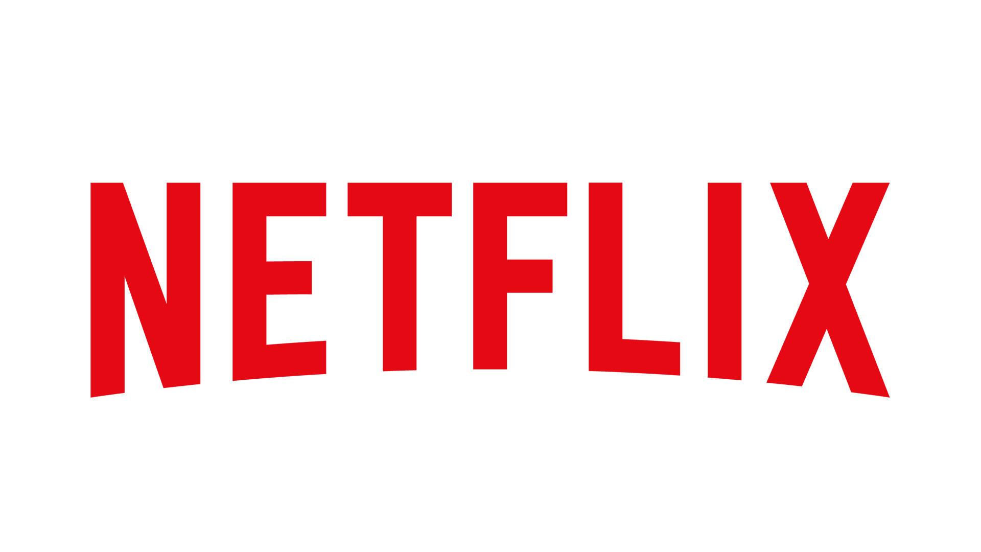 Netflix logo sfondo bianco