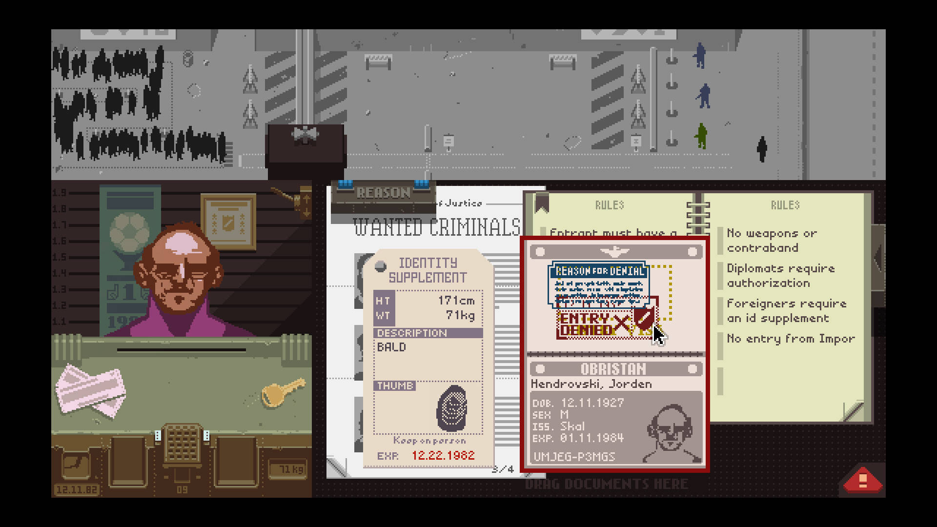 Papers, Please gioco