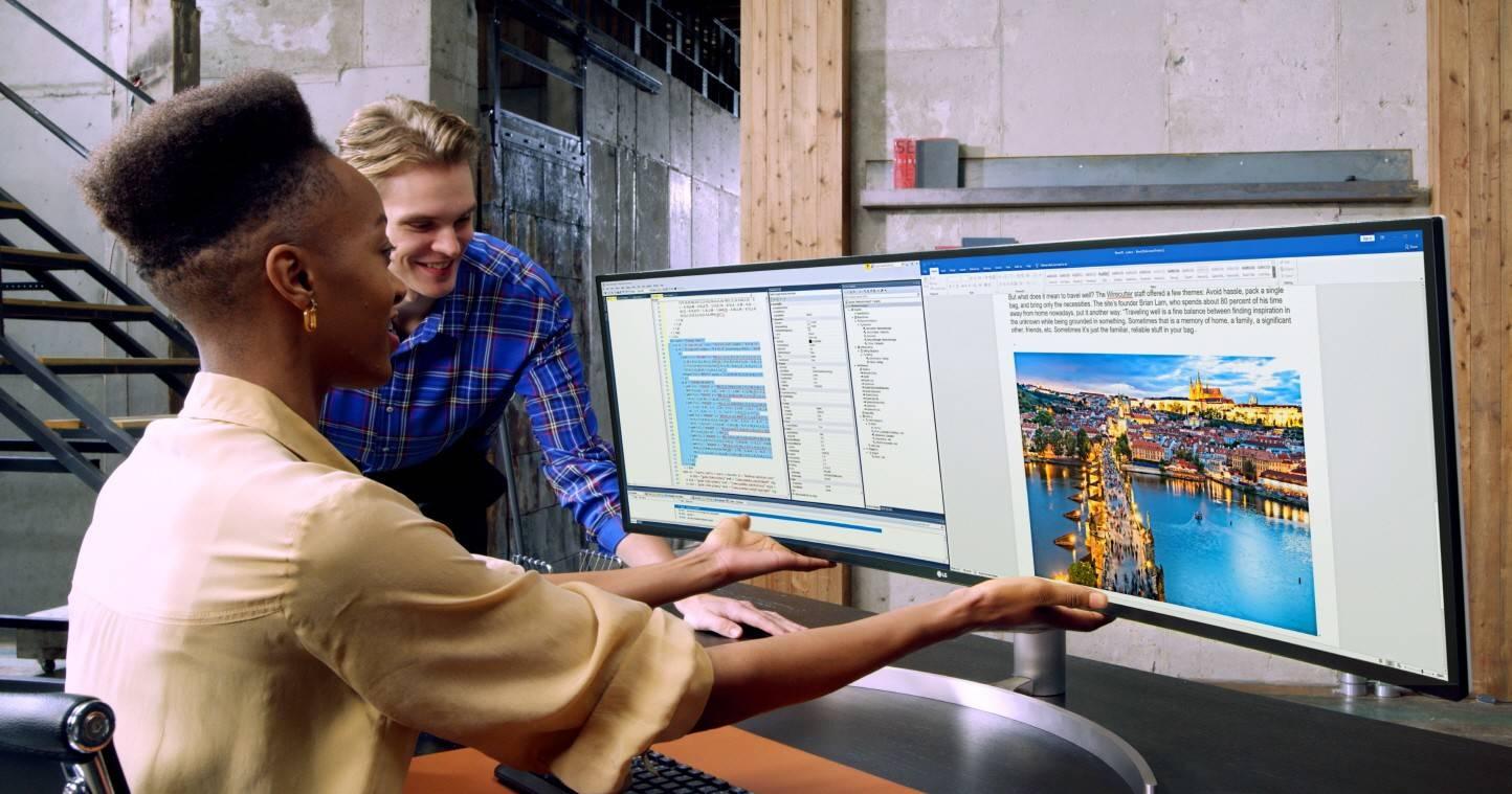 🖥  Dos nuevos monitores LG para unirlos y formar una pantalla ultra panorámica