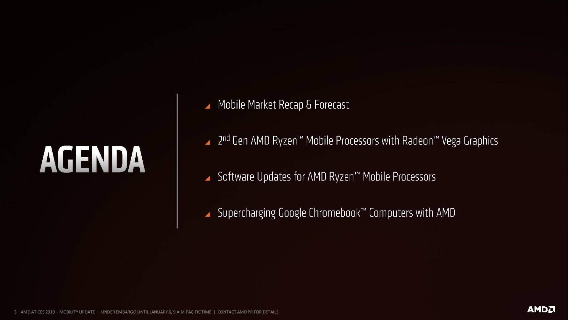 AMD Ryzen Mobile 2nd Gen slide