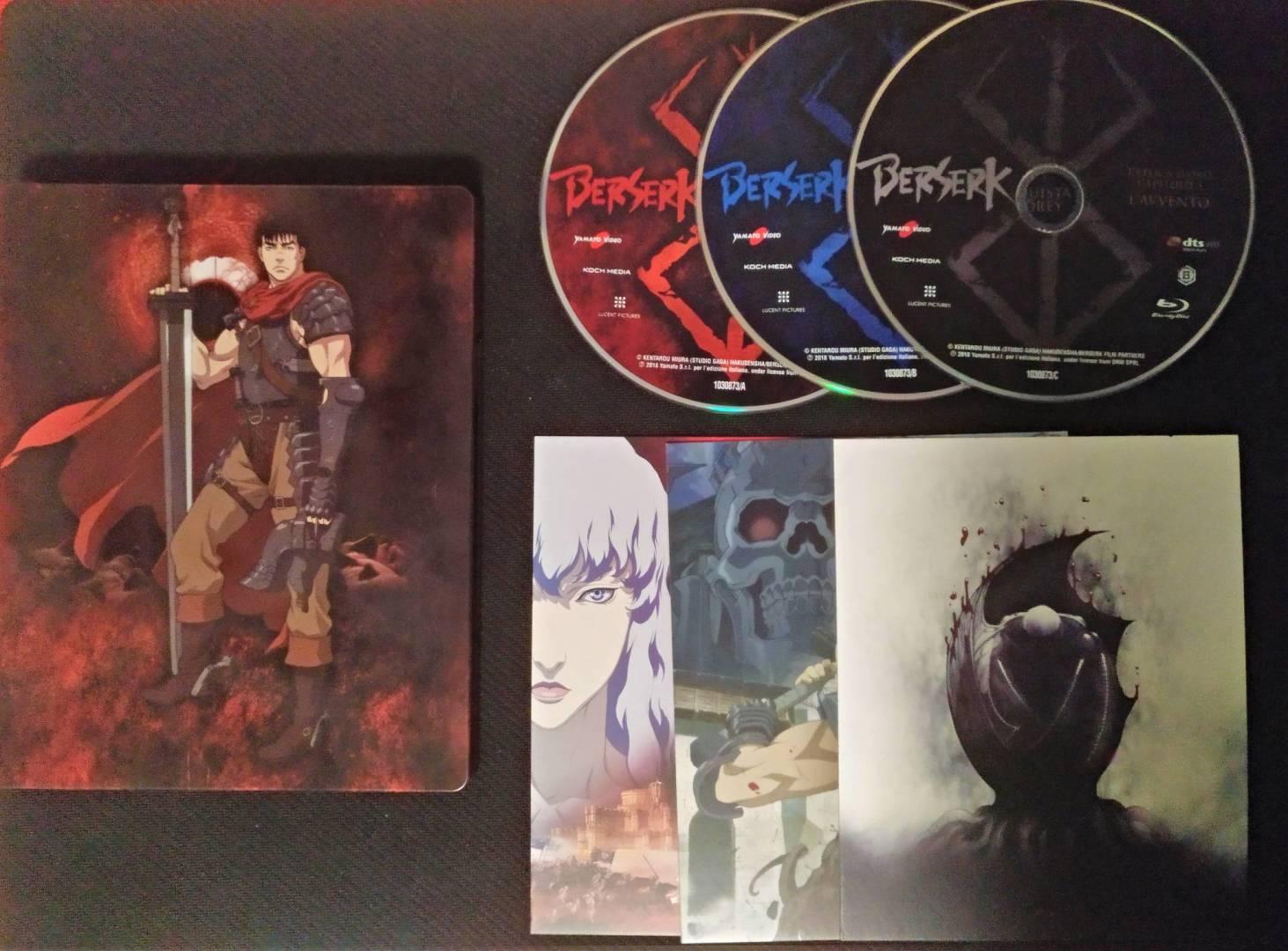 Berserk Trilogy blu-ray