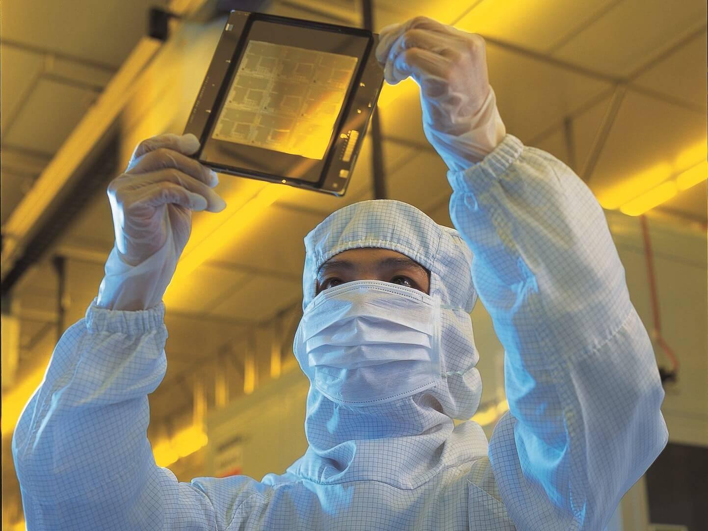 produzione chip tsmc wafer