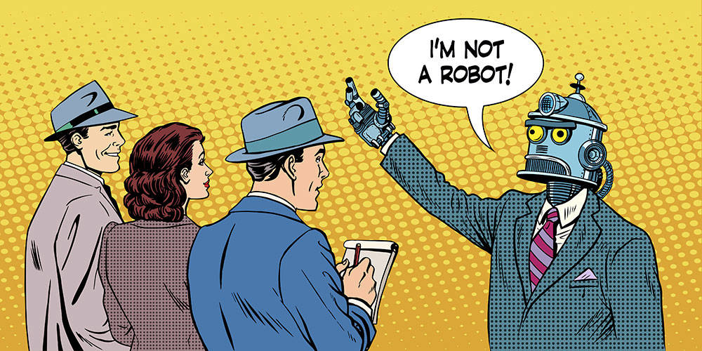 Robot politico con giornalisti