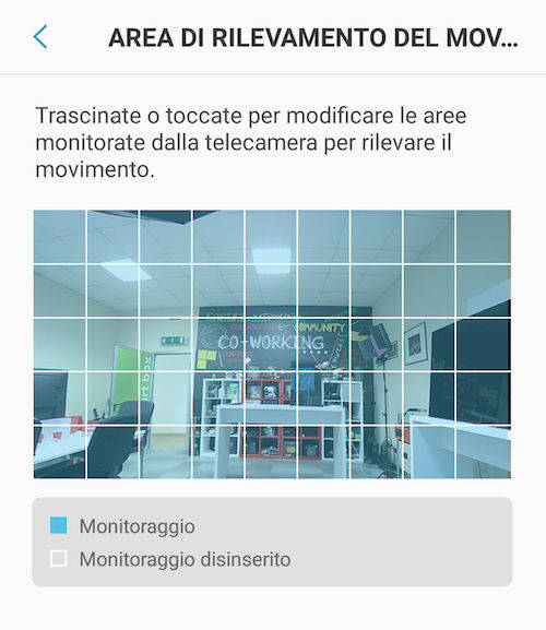 V-Home monitoraggio camera