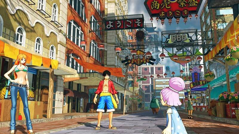 one piece world seeker Luffy Nami cosplay su misura