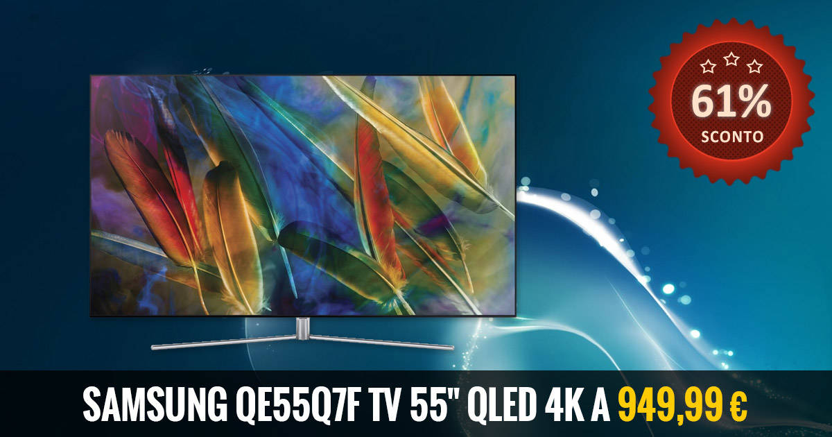 SAMSUNG QE55Q7F Tv 55'' QLed Ultra HD 4K deal