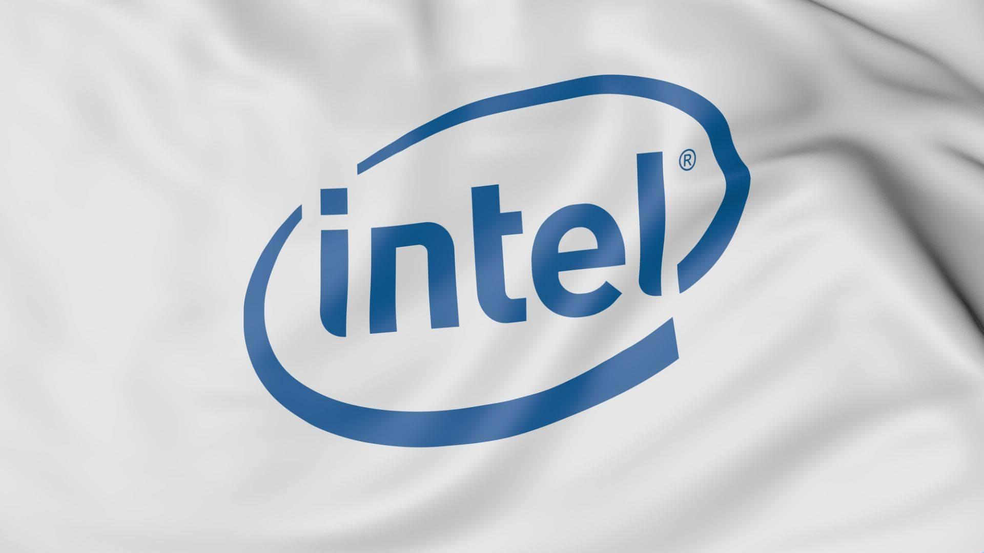 Intel logo bandiera